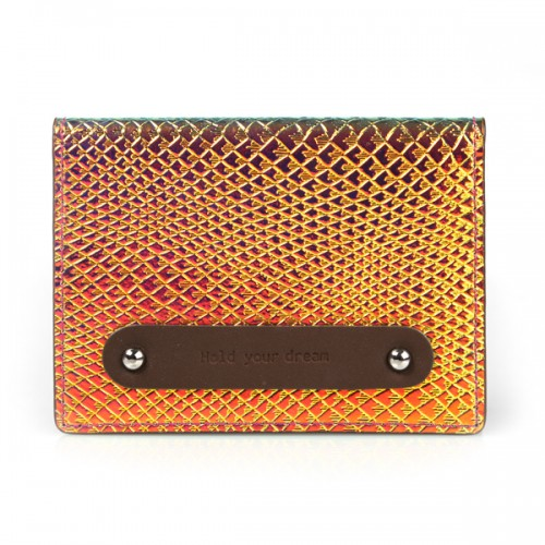 Hold your dream LEATHER card case NEOpink